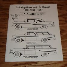 1955 1956 1957 Chevrolet Coloring Book for Kids 55 56 57 Chevy