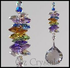 40mm Clear Crystal Ball Hanging Suncatcher With Swarovski Crystal Multi Colours