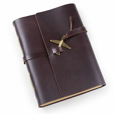 Ancicraft Leather Journal Travel Diary with Vintage Airplane A5 Blank Paper Gift