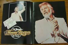 KENNY ROGERS  1984 TOUR  PROGRAM AND TICKET STUBS