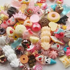 Mixed Lot Cute Food Candy Scrapbooking Flatback Cabochons DIY Craft Kit Supplies