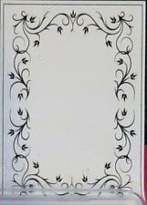 "MPRESS #25 HEATHER BORDER Embossing Folder - Frame - 4"" x 6"" use w/Roller Mach."