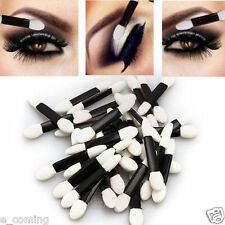 50pcs Double-ended Disposable EyeShadow sponge Applicators Brushes Makeup Tool