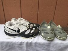 RARE Nike ZoomAir Revive DRC2 Mens White Shoes Removable Covers Navy Gray US 9
