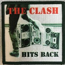 The Clash Hits Back Woven Patch NEW Joe Strummer Embroidery Punk Rock 1977 Brits
