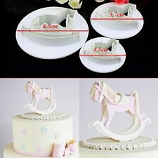3pcs horse fondant plunger cake decorating sugarcraft cutters tools mold moulds