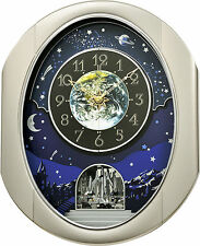 (New!) PEACEFUL COSMOS II Musical Magic Motion Wall Clock Rhythm Clocks
