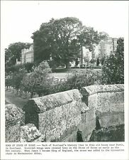 1978 Old Home and Stone of Scone Scotland Original News Service Photo