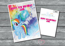 Personalised My Little Pony Rainbow Dash Name And Age Birthday Card A5 Large