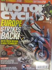 Motorcyclist Magazine March 2013 Kawasaki ZX-6R Triumph Daytona 675R Europe Stri
