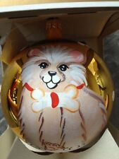 ITALIAN MOUTH-BLOWN HANDPAINTED LIMITED EDITION DOG/PUPPY ORNAMENT/PERFECT GIFT!