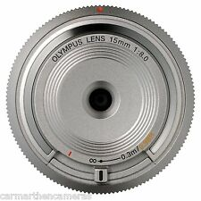 Olympus Micro Four Thirds 15mm Body Cap Lens - Silver