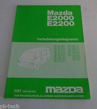 Werkstatthandbuch Elektrik Verkabelungsdiagramme Mazda E2000 2200 St. 07/1997