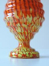 ART DECO GLAS VASE CZECH GLASS BÖHMEN