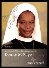 Denise M Baye Um Himmels Willen Autogrammkarte Original Signiert ## BC 31331