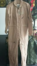 NEW NOMEX US ARMY Flight Suit CWU 27P Flyers Tan Coveralls 40S