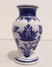 Small Royal Delft De Porceleyne Fles Blue and White Bud Vase, 1970