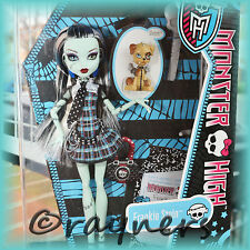 New | Monster High Frankie Stein Doll | Pet & Diary Classic Original Costume