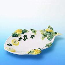 italienische Bassano Keramik, Servierteller mit Meeresfrüchte Fischteller Neu