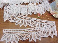 """1Y Vintage Victorian White Battenburg Lace Trim~3"""" Wide~Cotton~Wedding/DIY~"""
