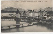 Switzerland, Luzern, Kapellbrucke, Seidenhof, Hotel du Lac Postcard, B214
