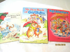 Enid Blyton bulk lot of 3 LGE HC High Adventure BLOWNAWAY RABBIT Best RENE CLOKE