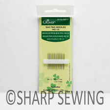 QUILTING NEEDLES NO.12  0.51 X 22.7MM 15 EACH #468/12 BY CLOVER