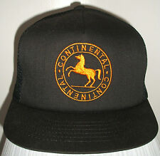 Continental Tire Hat Trucker Cycling Bike Baseball Cap Racing Adjustable - Black