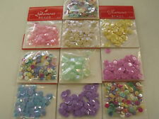 PASTEL MIX Sequins SEED Arts Crafts 10pk Bead Embellishments DIY jewellery