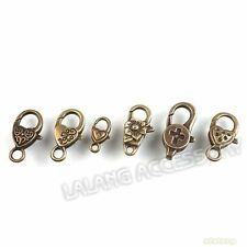 18pcs Bulk Charms Bronze Antiqued Alloy Lobster Clasp Connector Finding Free P&P