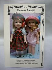 "14.5"" Doll Wardrobe Pattern #2 for Wellie Wishers, School Outfit, Romper"