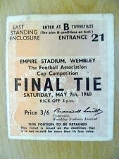Tickets- 1960 FA Cup FINAL - BLACKBURN ROVERS v WOLVERHAMPTON WANDERERS
