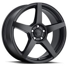 """17"""" VOXX MGA Matte Black Wheels Rims 5x108 Ford Focus Fusion Escape Volvo"""