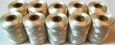 White Strong Sewing Thread embroidery Nylon Spools Silk Heavy Duty Spools x 10