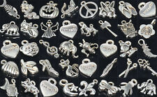 Wholesale Lots Mixed Tibetan Silver Pendant Bracelet Necklace Charm Beads 100pcs