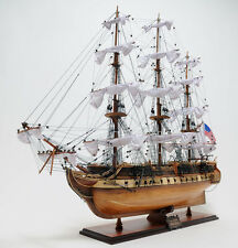 """USS Constitution Exclusive Edition 38"""" - Handcrafted Wooden Model Ship T012"""