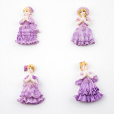 Lot of 24 Quinceanera Sweet 15 Purple Miniature Figurines Cute Party Favors