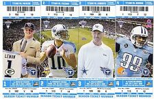 2014 TENNESSEE TITANS SEASON TICKET STUB SET UNUSED TICKETS JAKE LOCKER
