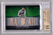 2011 Topps Triple Threads Rogers Hornsby Green Refractor 13X Bat /18  BGS 9.5
