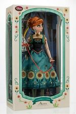 """Disney Frozen Fever Anna Limited Edition 17 """" Doll New In Box LE 5000 - In Hand"""