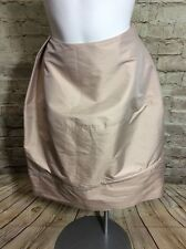 JL LILITH NEW NWT SKIRT JUPE Tan SIZE MEDIUM Tissu Italien
