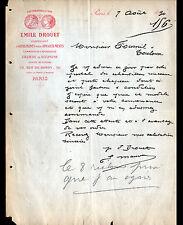 """PARIS (X°) ORNEMENTS pour APPARTEMENT / ATELIER de SCULPTURE """"Emile DROUET"""" 1890"""