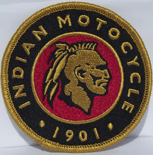 Indian Motocycle 1901 embroidered cloth patch.  H010701.
