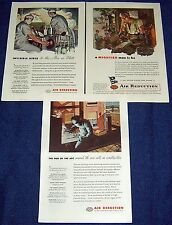 Lot of 3 Ads ~ AIRCO Air Reduction 1945 Welder,Welding,Surgeon,Anesthesiologist