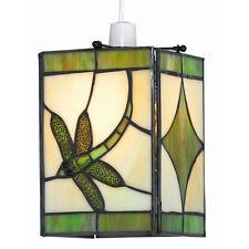 TIFFANY LIBELLULA IN VETRO VERDE Soffitto Luce Ombra RACCORDO Oaks Lighting OT 27 gr
