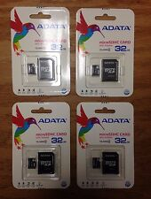 Lot of 4 Adata Class 4 32GB MicroSD Card SD HC