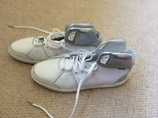 adidas white leather hi top size 9, rrp £120