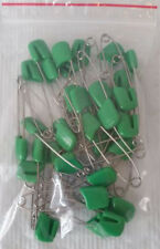 36 Full Size Baby Cloth Diaper Pins Green
