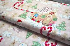 MISCELA CASA DI PAN DI ZENZERO USA tessuto designer 0,5 m Natale Inverno Neve