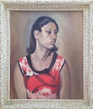 Original Oil On Board Painting Of Mexican Or Indian Woman.By Artist Adele Andres